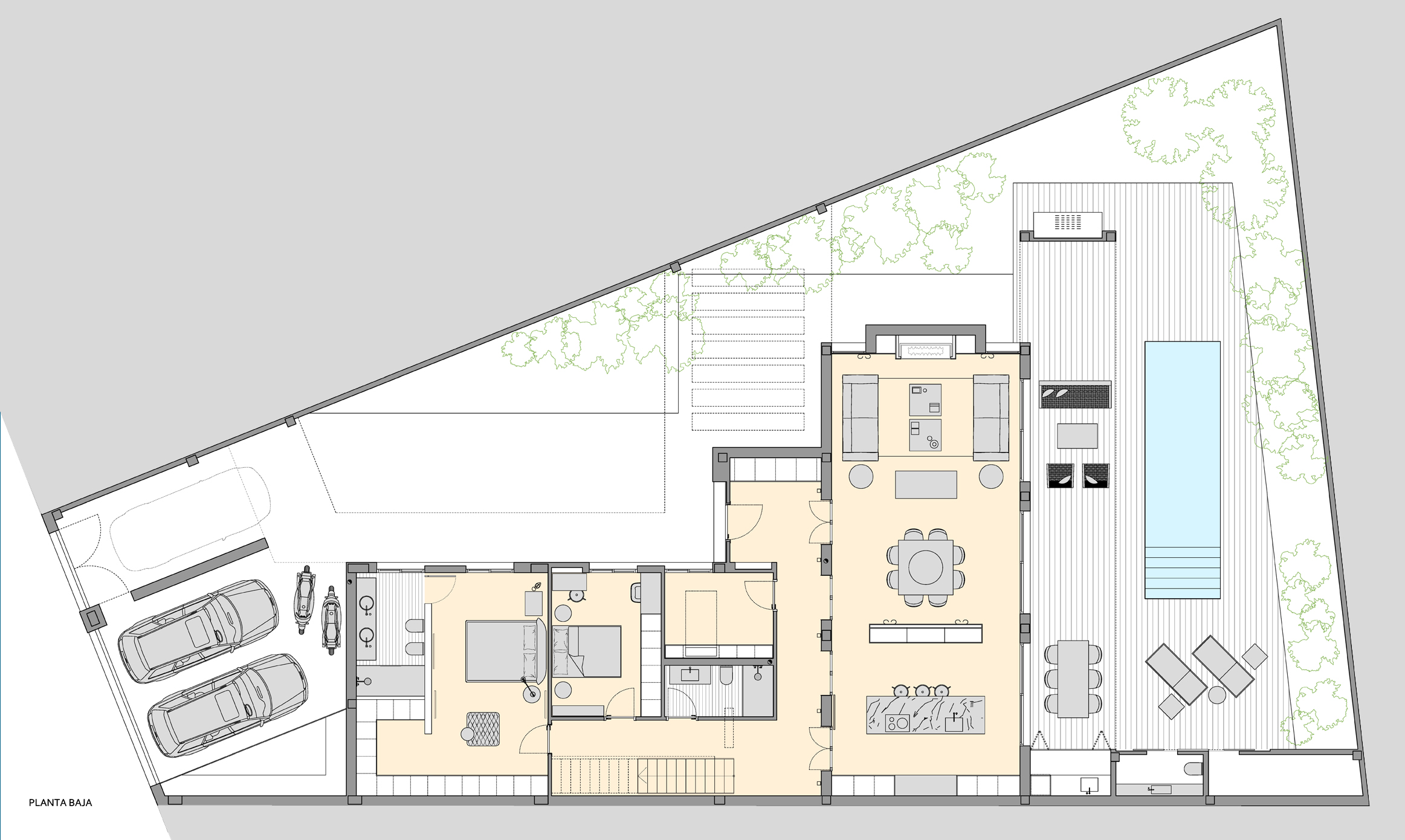 Casa va smbarquitectura - Casas en planta baja ...